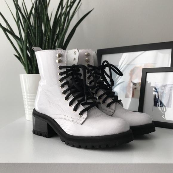 76a9a508945 Steve Madden Geneva White Patent Boot. M 5bfaf6382beb79fb459a4882